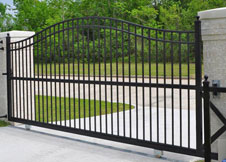 6' Tall Single Gate Black Aluminum
