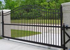 6' Tall Single Gate Black Aluminum