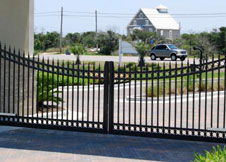 4 Tall Double Gate Black Aluminum