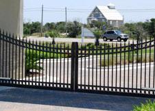 4 Tall Double Gate Black Aluminum