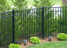 4 Foot Tall Ohio Aluminum Fence