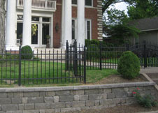 6 Foot Tall Black Aluminum Fence