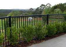 4 Foot Tall Black Aluminum Fence