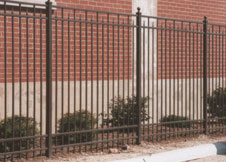 8 Foot Tall Aluminum Fence with ball post caps