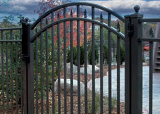 6 Foot Tall Black Aluminum walk gate