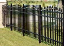 Arched Aluminum Fence Panels