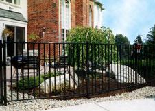 Heavy Duty Black Aluminum Fence