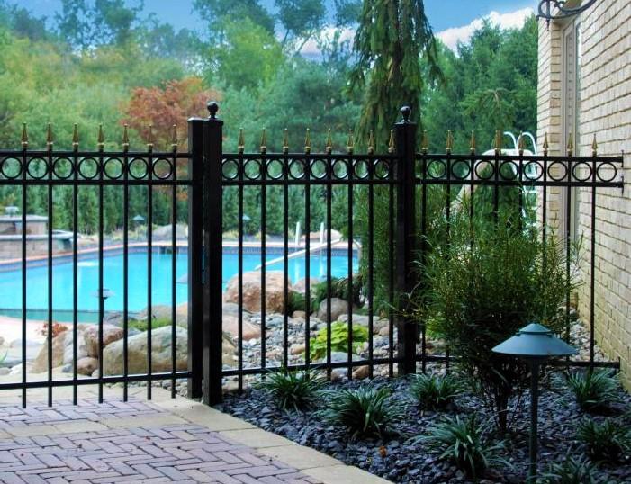 Black Aluminum Fence 4 Foot Tall