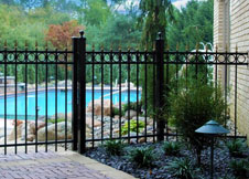 Black Aluminum Fence 4 foot tall