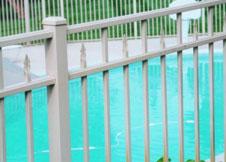 White Aluminum Fence
