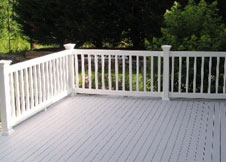 Cardinal vinyl railing and Vinyl Stair Railing