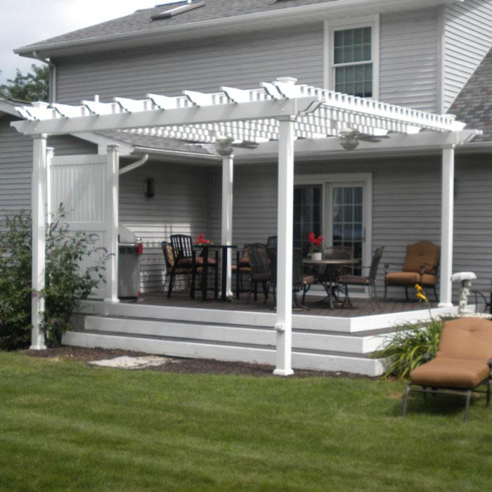 PVC patio cover