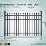Aluminum Fence Diagram - Jefferson 03