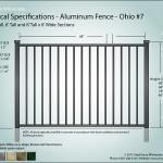 Aluminum Fence Diagram - Jefferson 07