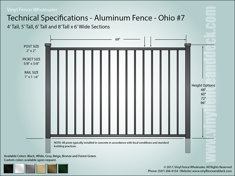 Ohio Aluminum Fence Specification CAD 7