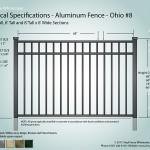 Aluminum Fence Diagram - Jefferson 08