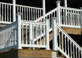 Salem PVC Railing and Salem Stair Railing