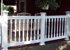Salem Railing with turned spindles