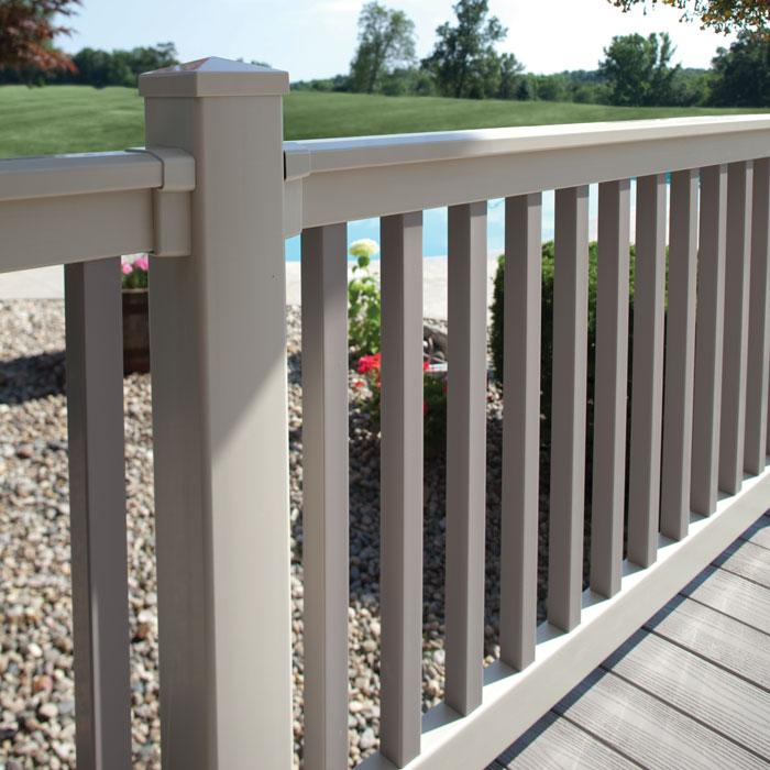 heavy duty winston vinyl railing deck railing porch. Black Bedroom Furniture Sets. Home Design Ideas
