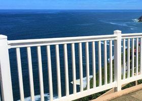 White PVC Railing and Vinyl Stair Rail