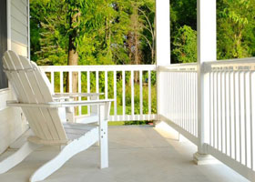Vinyl Flat Railing and Stair Railing