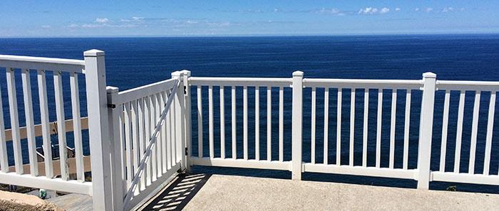 White Vinyl Railing And PVC Stair Railing