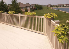 TAN Vinyl Railing Factory direct