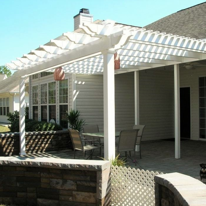 vinyl patio cover with double beams