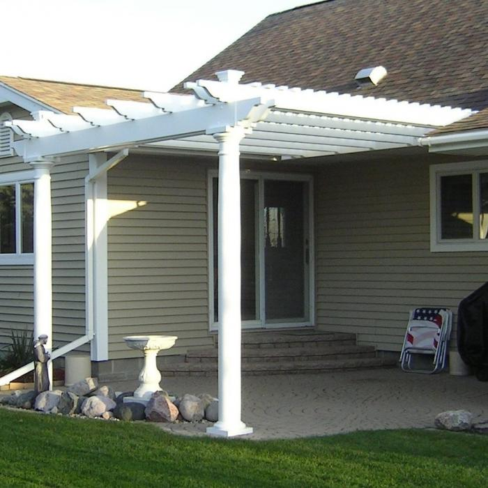 Vinyl pergolas garden patio covers from