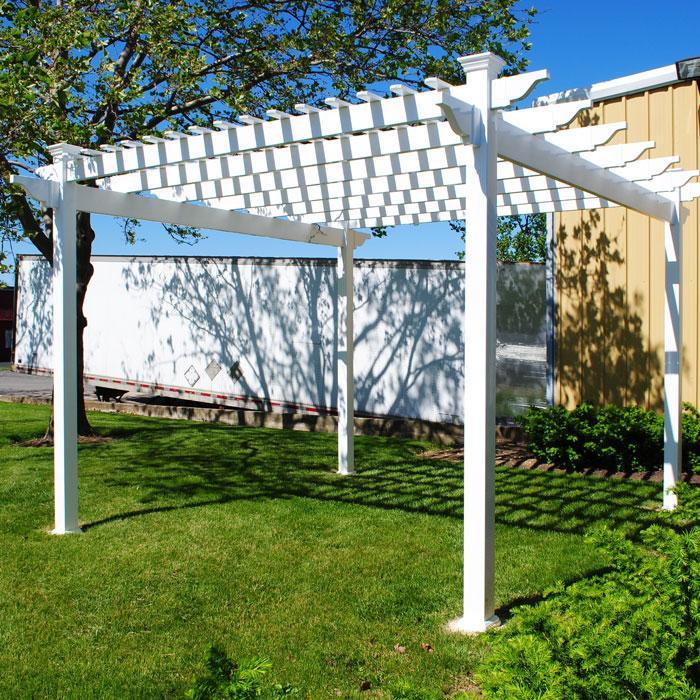 single beam vinyl patio cover