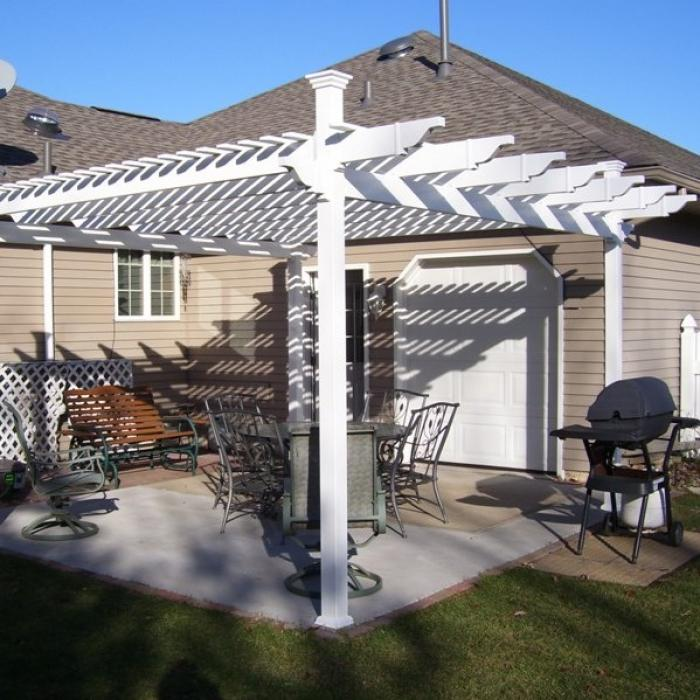 free standing single beam patio cover