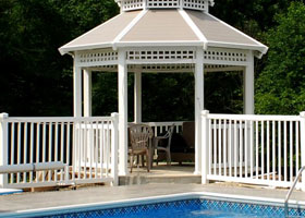 6' Tall Aluminum Fence with Double Gate