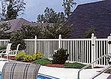 7' Tall Atlantis pool fence