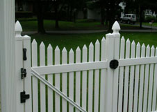Austin white picket fence