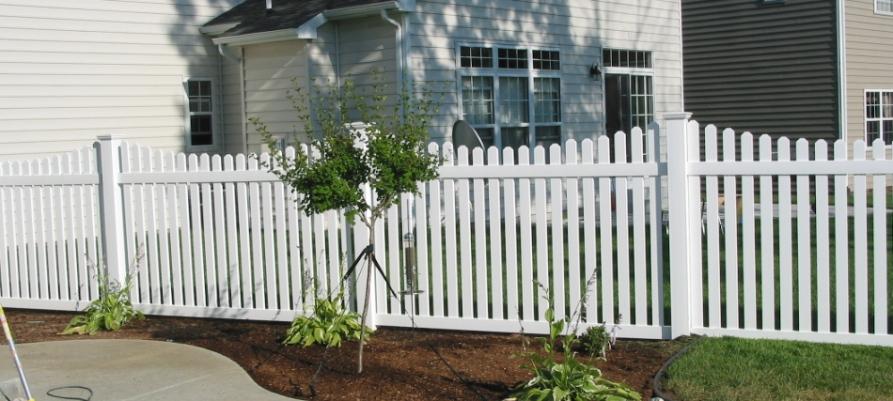Austin White Picket Fence