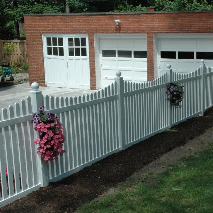 White Austin Picket Fence