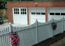 white Austin picket fence
