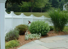 Austin pvc picket fence