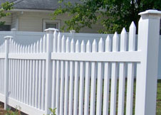 Austin vinyl picket fence
