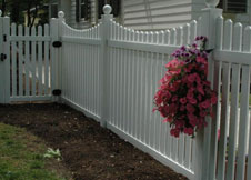 3' tan picket fence