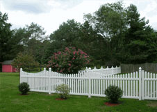 tan picket fence