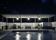 bel air 4' tall white swimming pool fence
