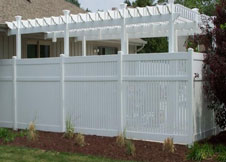 bel air 6' tall white pool fence