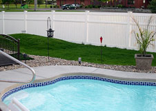 bel air 7' tall pool fence