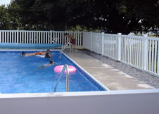 bel air 4' tall bel air semi privacy fence pool fence