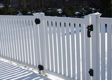 bel air 6' tall white vinyl pool fence