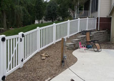 bel air 6' tall white semi privacy fence vinyl pool fence