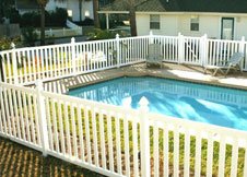 bel air 6' tall swimming pool fence