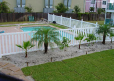 bel air 7' tall swimming pool fence