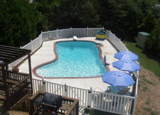 bel air 4' tall swimming pool fence